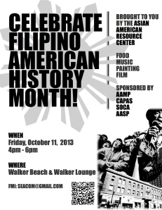 Filipino American History Month Flyer